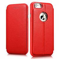 Чехол Icarer Transformers Litchi Pattern Leather Series для iPhone 6/6S plus красный, фото 1