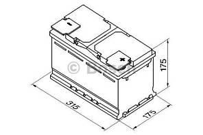 "Аккумулятор BOSCH S5 Silver Plus 85Ah , EN800 , правый ""+"" , ( Bosch 0 092 S50 100 ) 315*175*175(Д*Ш*В)"