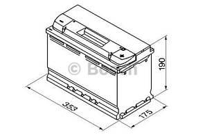 "Аккумулятор BOSCH S4 Silver 95Ah , EN800 , правый ""+"" , ( Bosch 0 092 S40 130 ) 353*175*190 (Д*Ш*В)"