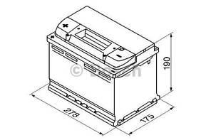 """Аккумулятор BOSCH S4 Silver 74Ah , EN680 , левый """"+"""" , ( Bosch 0 092 S40 090 ) 278*175*190 (Д*Ш*В)"""