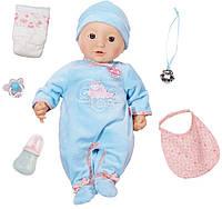 Кукла с мимикой 43 см мальчик Baby Annabell Zapf Creation 794654