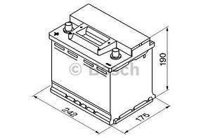 """Аккумулятор BOSCH S3 Silver 56Ah , EN480 , левый """"+"""" , ( Bosch 0 092 S30 060 ) 242*175*190 (Д*Ш*В)"""