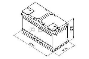 "Аккумулятор BOSCH S4 Silver 80Ah , EN740 , правый ""+"" , ( Bosch 0 092 S40 050 ) 315*175*175 (Д*Ш*В)"