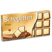 Шоколад Германия Шогетен Trilogia Schogetten Трилогия  100 грам оптом /розница