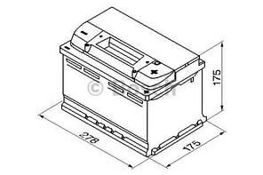 "Аккумулятор BOSCH S5 Silver Plus 74Ah , EN750 , правый ""+"" , ( Bosch 0 092 S50 070 ) 278*175*175(Д*Ш*В)"