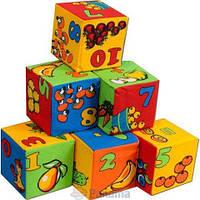"""Набір м`яких кубиків 6шт """" Цифри"""" РОЗУМНА ІГРАШКА"""