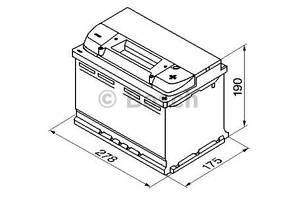 "Аккумулятор BOSCH S4 Silver 74Ah , EN680 , правый ""+"" , ( Bosch 0 092 S40 080 ) 278*175*190 (Д*Ш*В)"