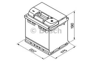 "Аккумулятор BOSCH S4 Silver 52Ah , EN470 , правый ""+"" , ( Bosch 0 092 S40 020 ) 207*175*190 (Д*Ш*В)"