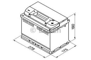 "Аккумулятор BOSCH S5 Silver Plus 77Ah , EN780 , правый ""+"" , ( Bosch 0 092 S50 080 ) 278*175*190(Д*Ш*В)"