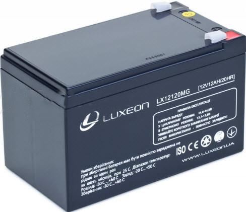 Аккумулятор AGM - 12 Ач, 12В гелевый Luxeon LX12120MG