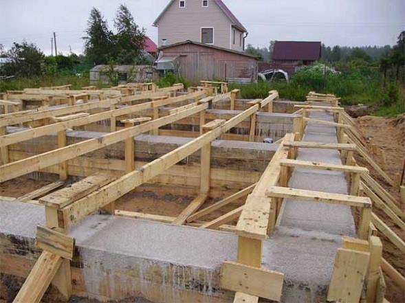 Создание ленточного фундамента для дома из газобетона