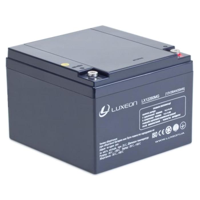 Аккумулятор AGM - 26 Ач, 12В гелевый Luxeon LX12260MG