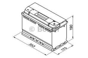 "Аккумулятор BOSCH S5 Silver Plus 100Ah , EN830 , правый ""+"" , ( Bosch 0 092 S50 130 ) 353*175*190 (Д*Ш*В)"