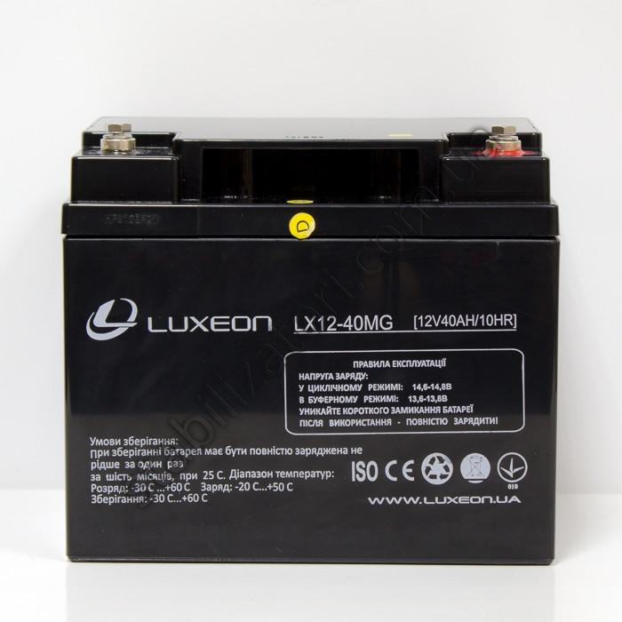 Аккумулятор AGM - 40 Ач, 12В гелевый Luxeon LX12-40MG