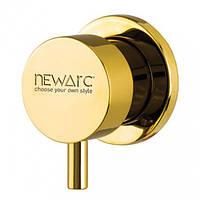 Запорный вентиль Newarc Maximal, золотой 101632G