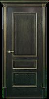 Двери шпонированные Вена-Ш, Зевс (черная патина) золото ПГ