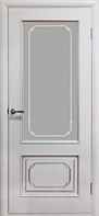 Двери шпонированные Серебрянка (белый лак) ПО