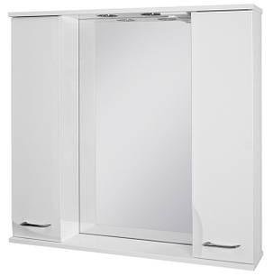 Зеркальный шкаф Ювента Франческа ФШНЗ3-100 белоеи цвета, фото 2