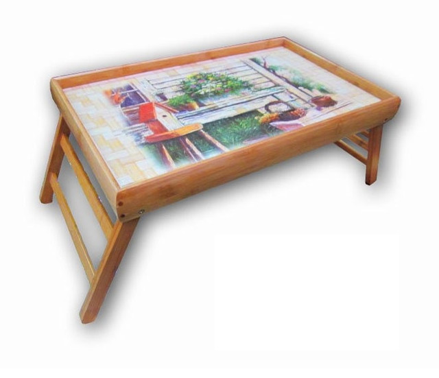 Бамбуковый столик для завтрака KULA  Дачный Уют