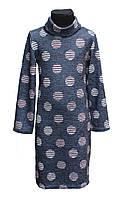 Подростковое  теплое платье-туника Роксана 134-152