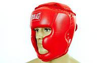 Шлем боксерский с полной защитой Everlast PU BO-4299-R
