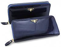 Стильный  клатч для женщин в синем цвете из натуральной лакированной кожи BETH CAT (30074)