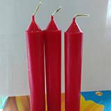 Свеча столовая красная  h- 14 см , фото 2