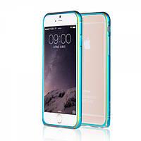 Алюминевый бампер Yoobao Soft edge для iPhone 6 plus (5.5) blue, фото 1