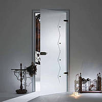 """Межкомнатная стеклянная дверь  """"Флора"""""""