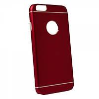 Алюминиевый чехол для iphone 6/6S plus с накладкой TPU красный, фото 1