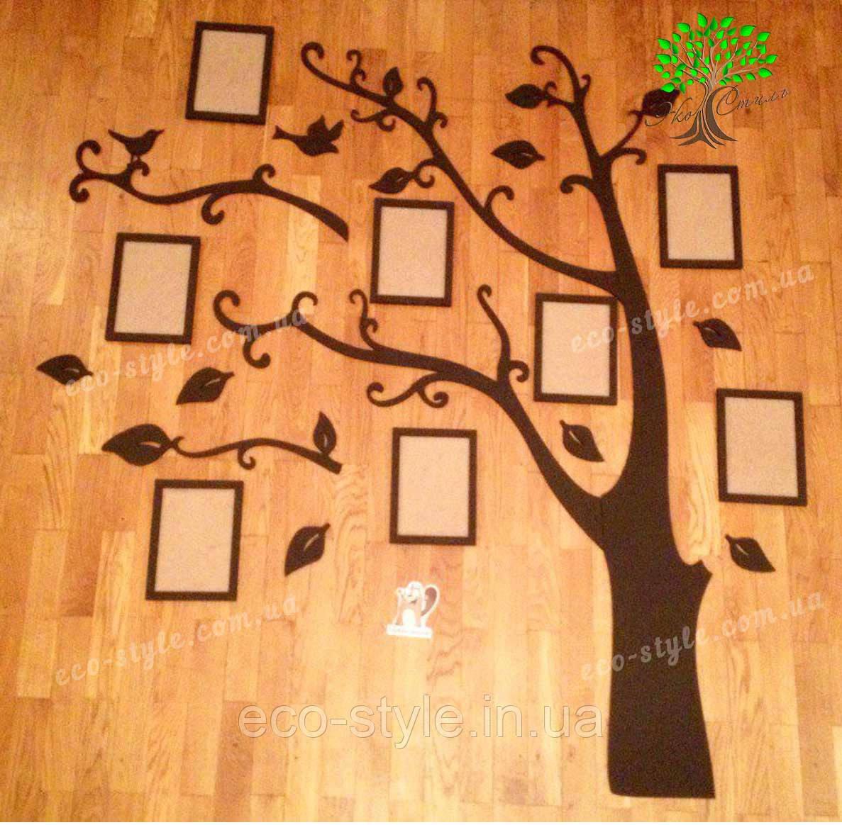 Композиция из фоторамок, набор фоторамок, фоторамки из дерева