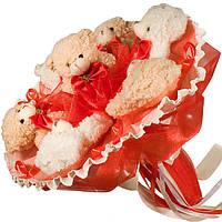 Букет из мягких игрушек Мишки 7