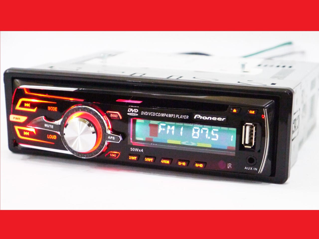 Pioneer DEH-8250UBG Автомагнітола DVD+USB+Sd+MMC знімна панель