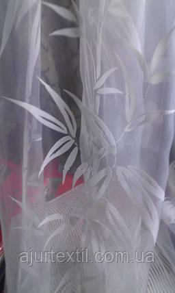 """Органза флок """"Бамбуковая веточка белая"""", фото 2"""