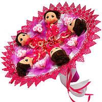 Букет из игрушек Куколки с розами