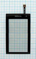 Тачскрин сенсорное стекло для Nokia 5250 High Copy black