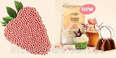 Шарики вафельные в клубничном шоколаде CALLEBAUT Crispearls 0.8кг/упаковка
