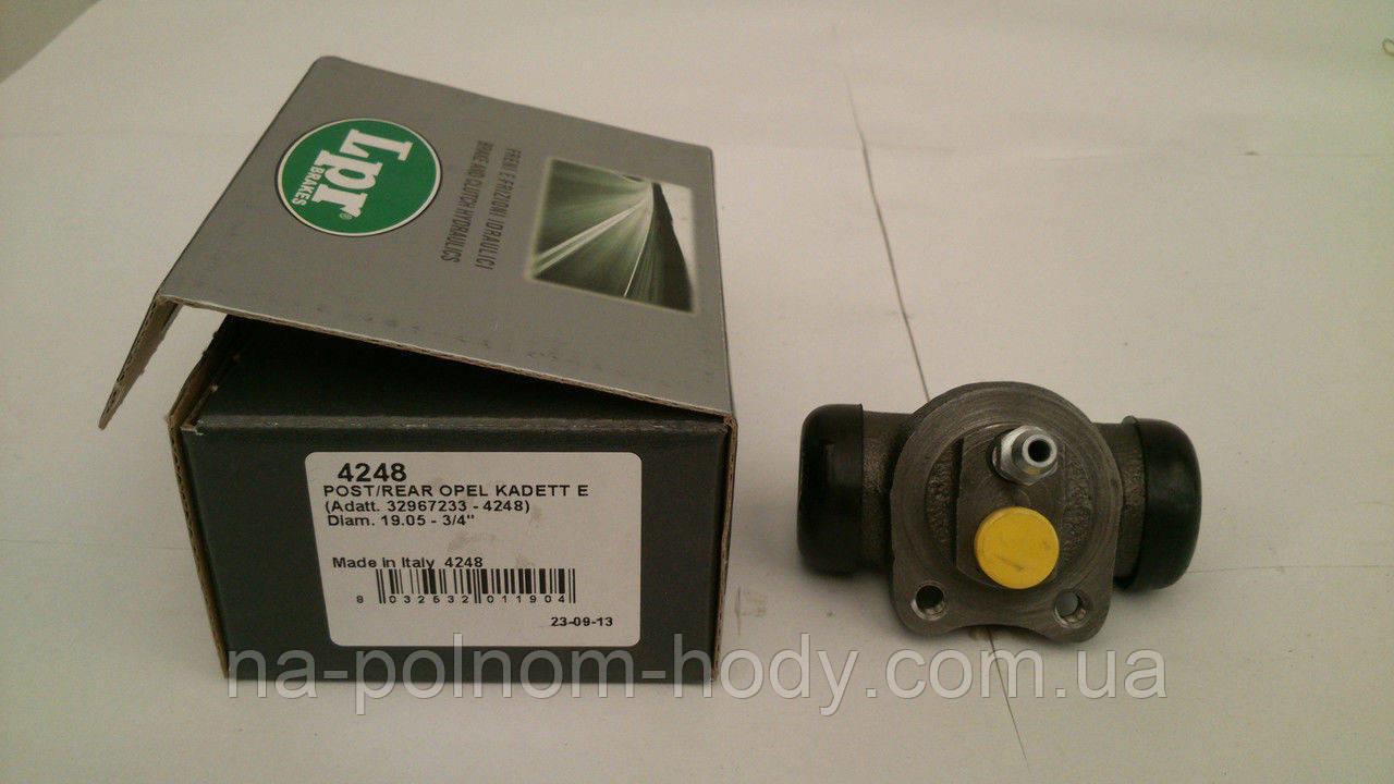 Цилиндр задний тормозной в сборе 19,05 мм Авео 1.6 Ланос  LPR