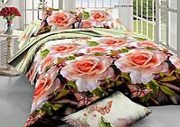 Евро набор постельного белья 200*220 из Ранфорса №224 Черешенка™