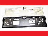 Камера заднего вида в рамке автомобильного номера с подсветкой, фото 1
