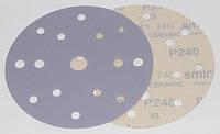Круг шлифовальный керамический 150 мм 15 отверстий Smirdex