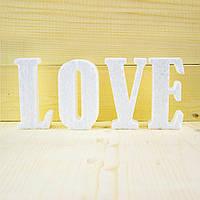 Объемные буквы LOVE 85 см из пенопласта
