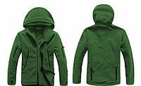 Мужская флисовая куртка (хаки)  Плотность флиса 400г/м
