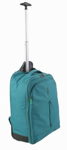 Изумрудный чемодан-рюкзак 2-колесный нейлоновый 39 л. Roncato IRONIC 5117/67