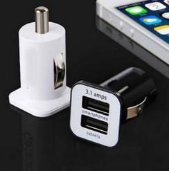 USB зарядка в авто прикуриватель 2,1А #100266