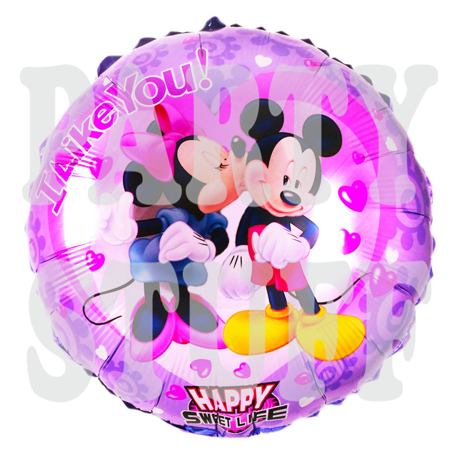 воздушные шарики из фольги Минни и Микки Маус