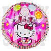 Воздушный фольгированный шарик Hello Kitty, розовый, 44 см