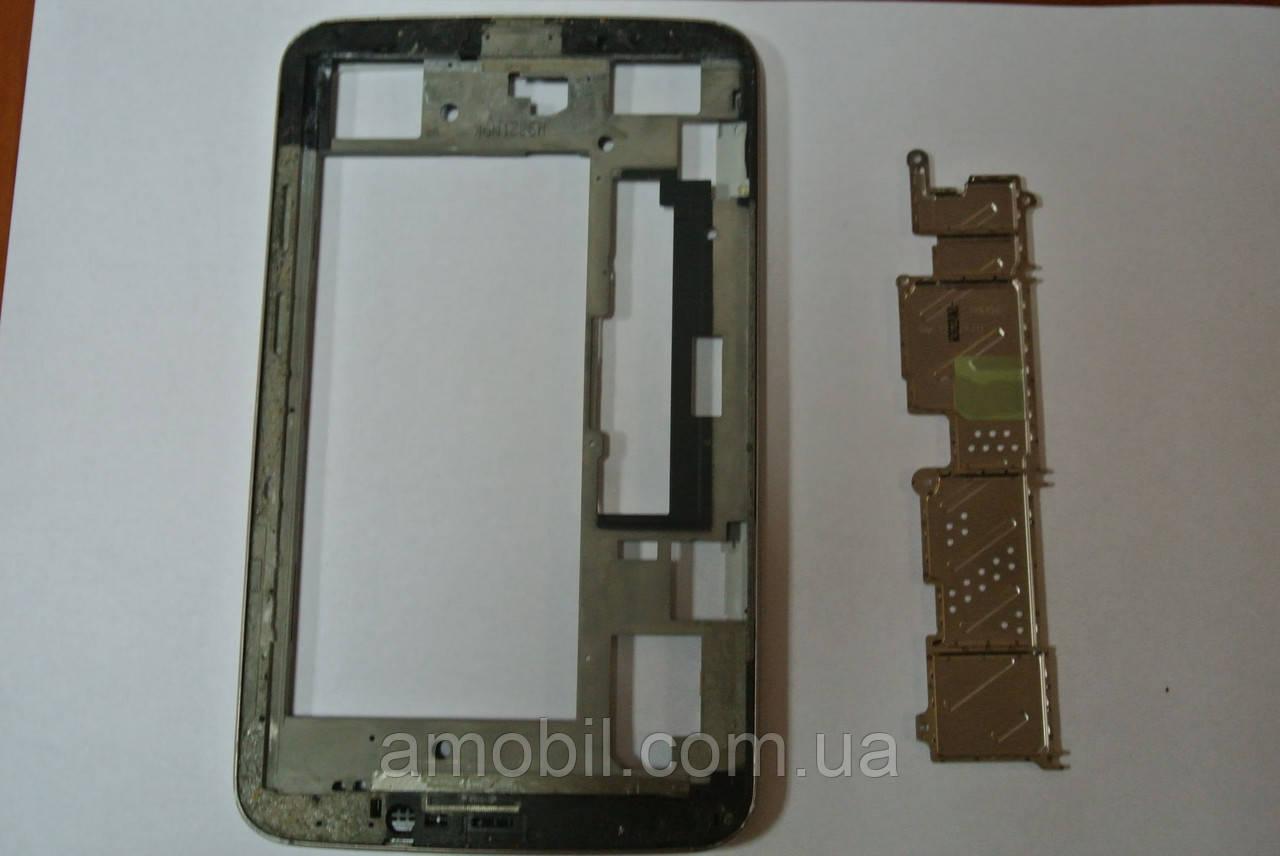 Рамка дисплея + средняя часть с кнопками Samsung T210 Galaxy Tab 3 orig