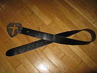 Ремень кожаный КРЕСТ МЕТАЛЛ, длина 101 см