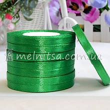 Атласная лента 1 см, №19 зеленый, рулон 23 м